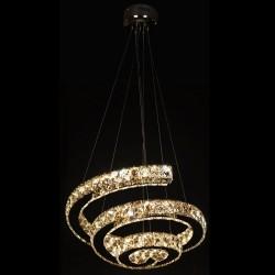 LAMPARA LED CROMO CRISTAL...