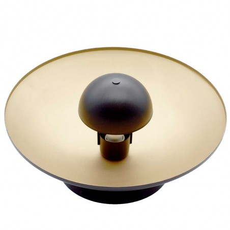 foto de Aplique de pared Negro / Oro con reflector para GU10 de lado superior hogarlux.com