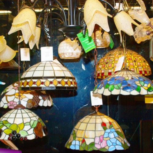 Imagen de Lámparas Tiffany dentro de la tienda